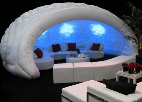tente et stand gonflable igloo luna tr s design et fashion